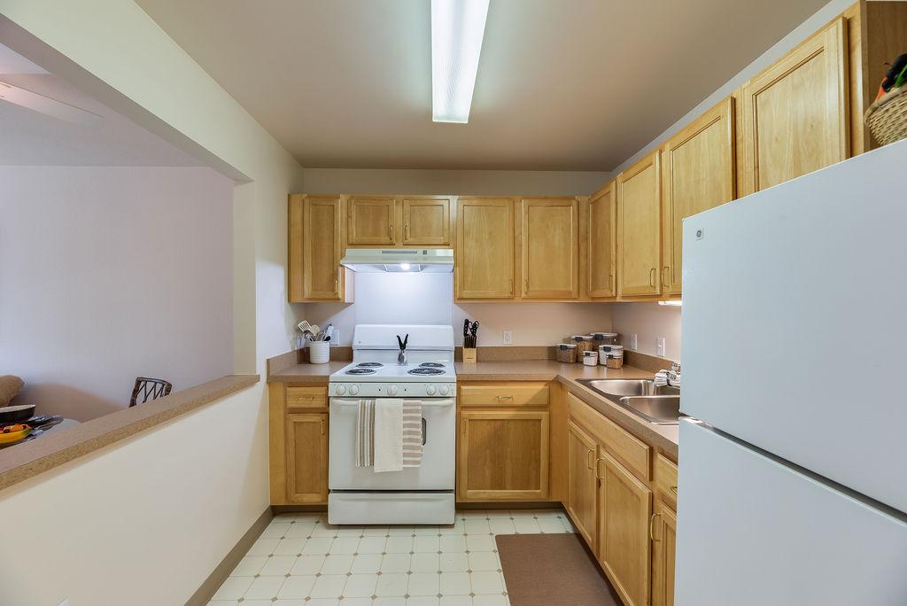 Interior kitchen at Elmhaven Manor
