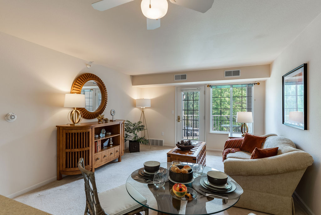 Interior living space of Elmhaven Manor apartment