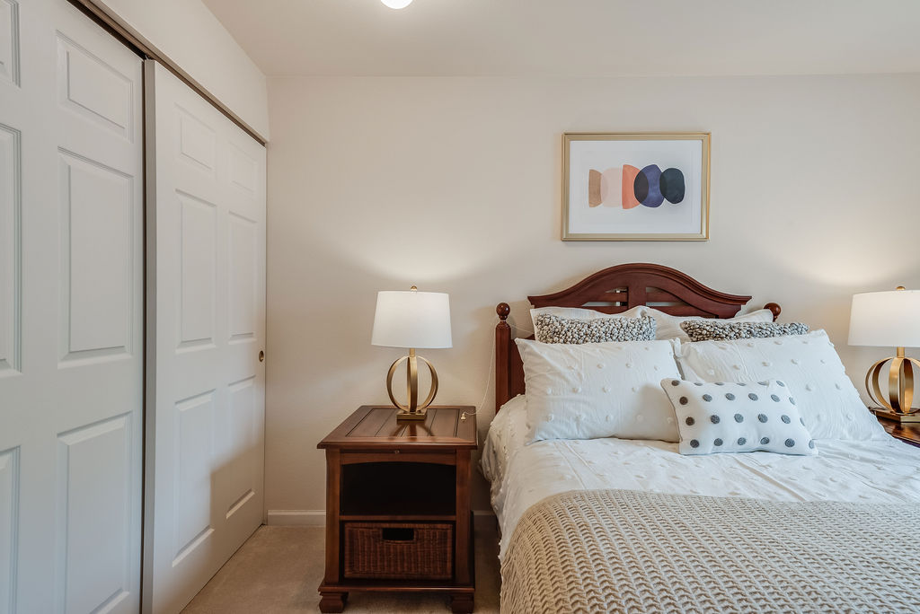 Bedroom space at Elmhaven Manor