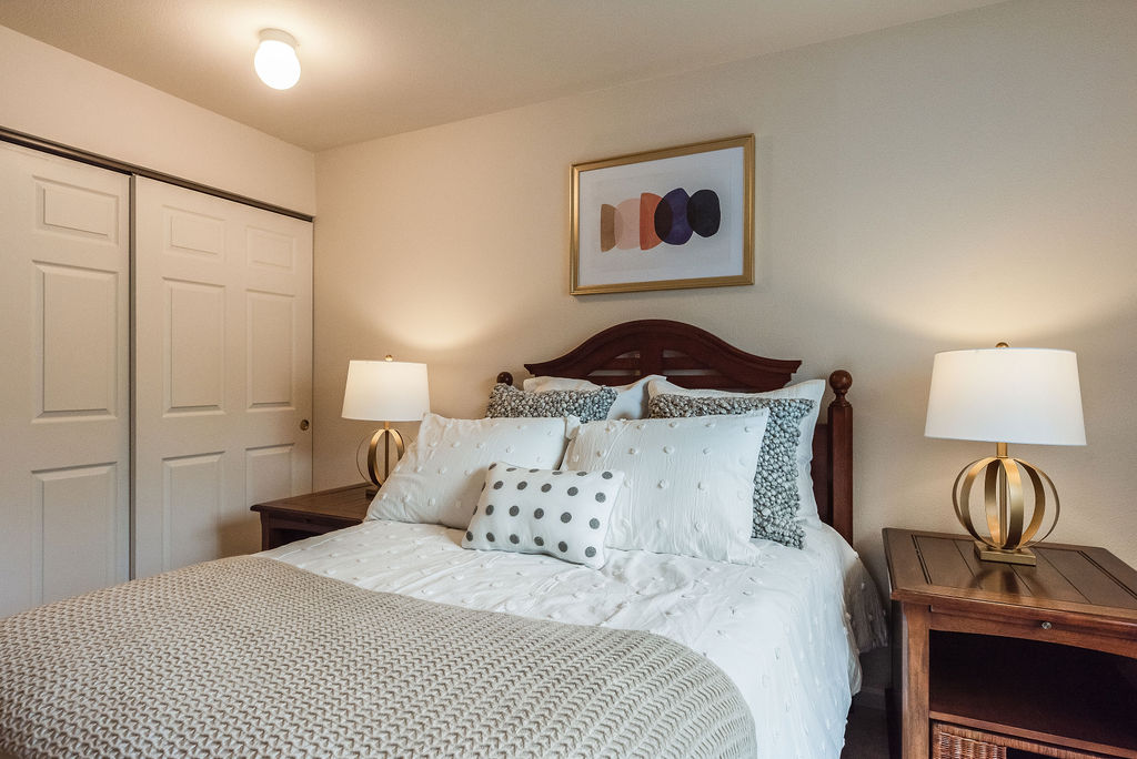 Bed in Elmhaven Manor apartment