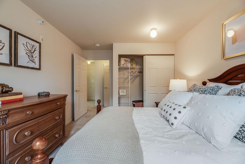 Bedroom space in Elmhaven Manor apartment