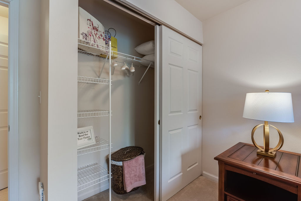 Closet space at Elmhaven Manor apartment home