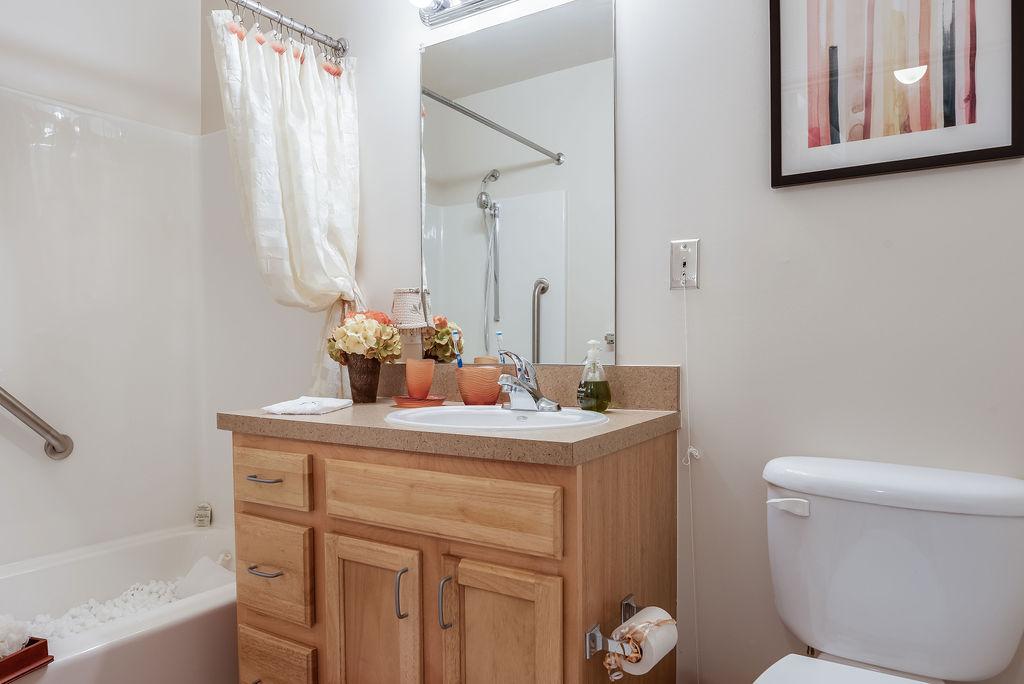 Bathroom sink at Elmhaven Manor