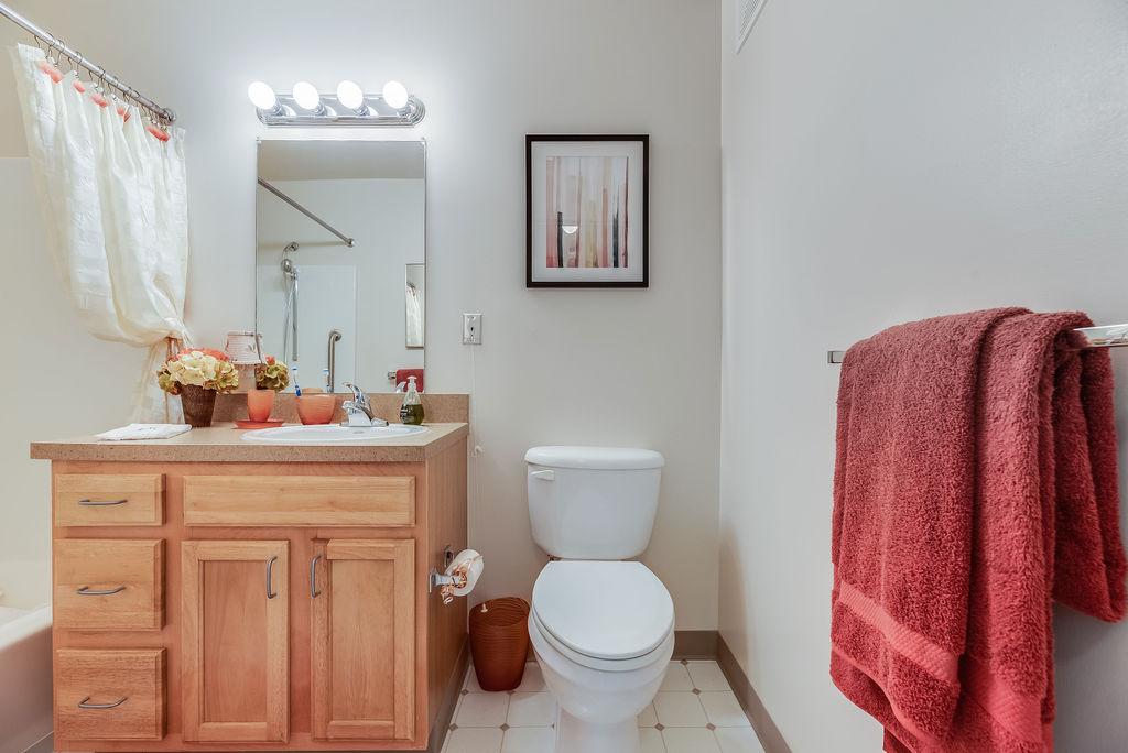 Bathroom in Elmhaven Manor apartment